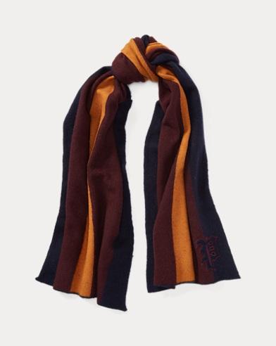 Collegiate Stripe Wool Scarf