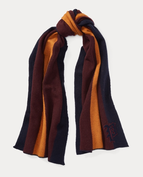 Collegiate Stripe Wool Scarf