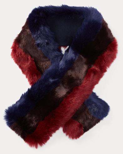 Faux-Fur Muffler Scarf