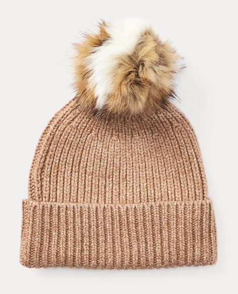 Faux-Fur Pom-Pom Hat