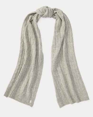 Cable Wool-Cashmere Scarf