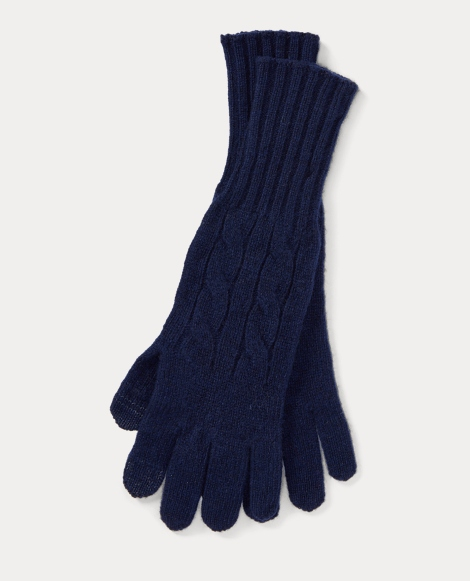 Cable Wool-Cashmere Gloves