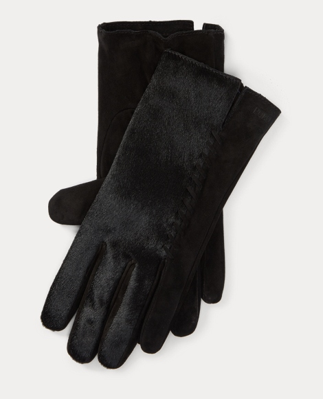 Whipstitched Haircalf Gloves
