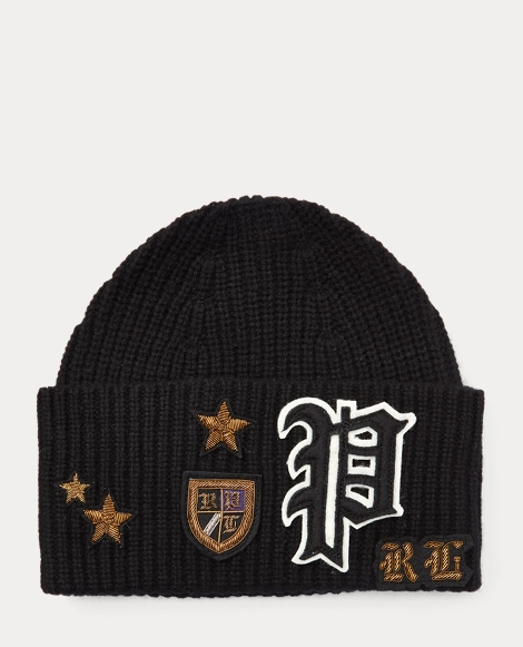 Bullion-Patch Wool Beanie