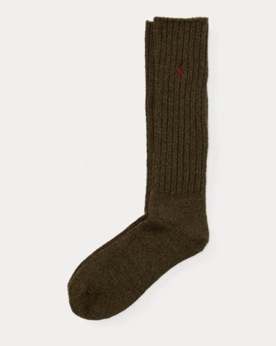 Tall Ribbed Crew Socks