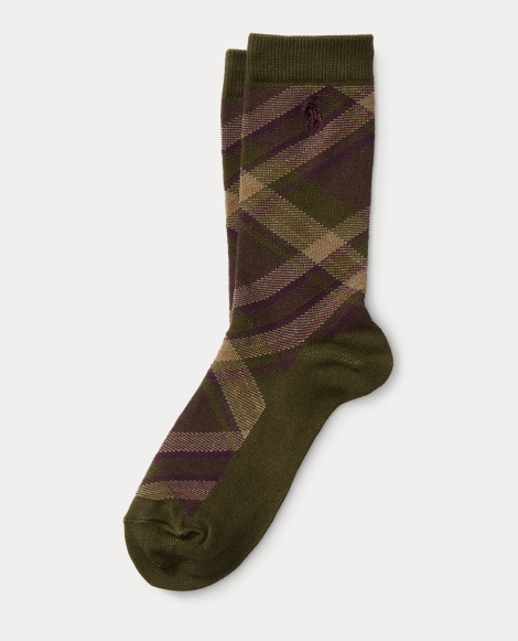 Bias Plaid Boot Sock