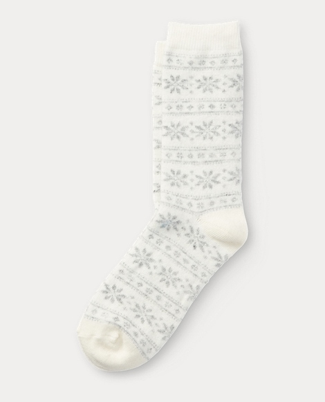 Snowflake Stripe Boot Sock