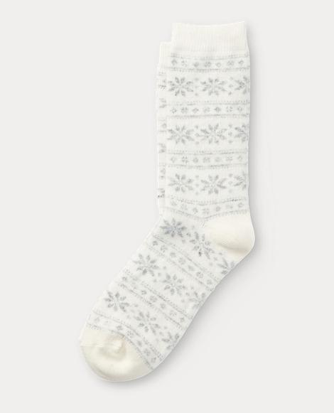 Snowflake Stripe Boot Sock