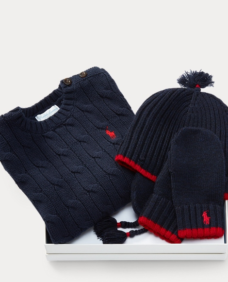 Sweater, Hat & Mittens Set