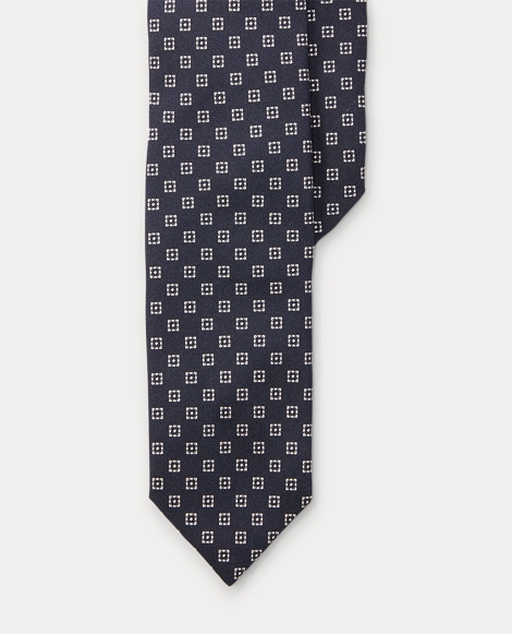 Print Mulberry Silk Narrow Tie