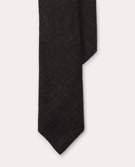 Herringbone Linen Narrow Tie