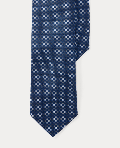 Checked Silk Narrow Tie