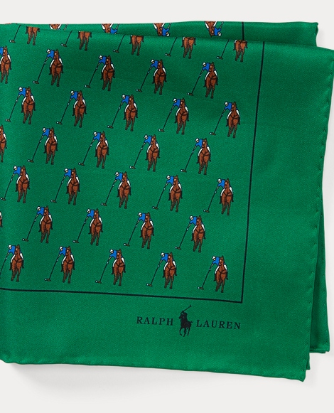 Polo Player Silk Pocket Square