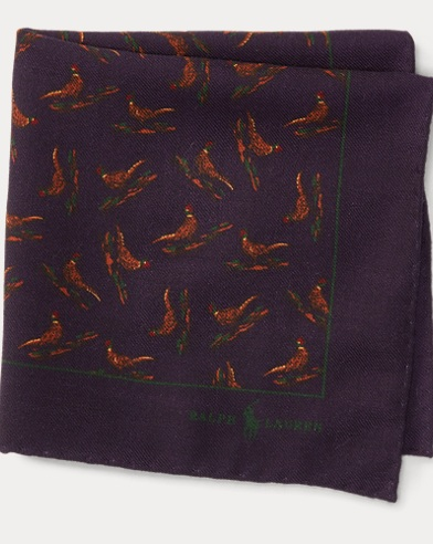 Pheasant Wool Pocket Square