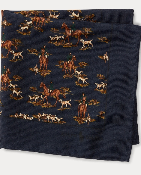 Hunting Wool Pocket Square
