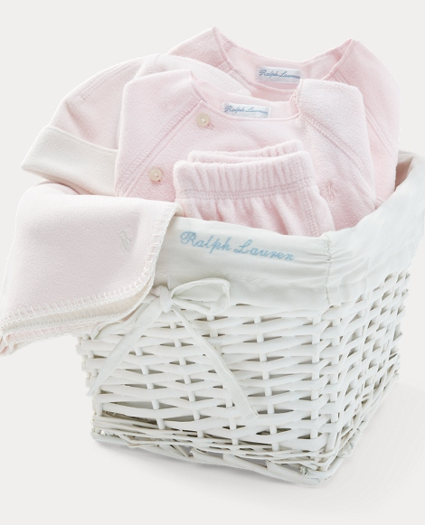 4-Piece Fleece Gift Basket