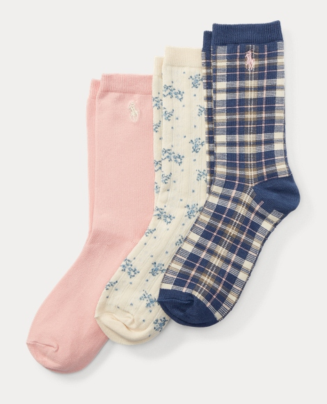 Plaid Trouser Sock 3-Pack
