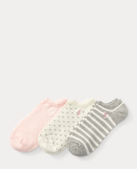 Dotted Low-Cut-Sock 3-Pack