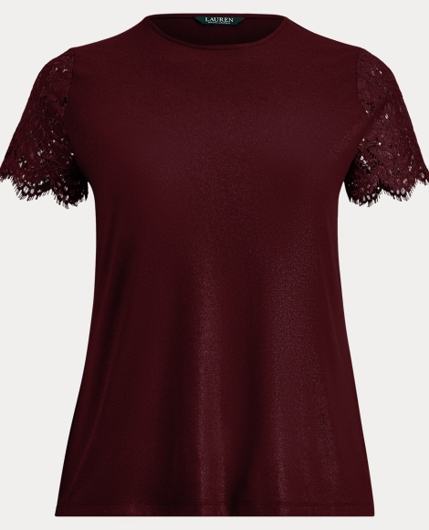 Lace-Sleeve T-Shirt