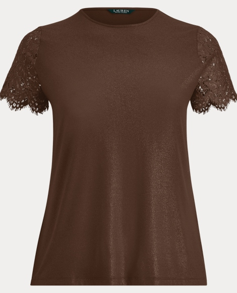 Lace-Sleeve Jersey Top