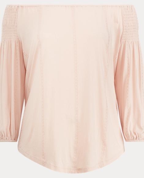 Cotton-Blend-Jersey Top
