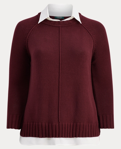 Layered Cotton-Blend Sweater