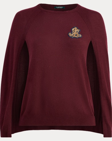 Bullion-Crest Sweater Cape