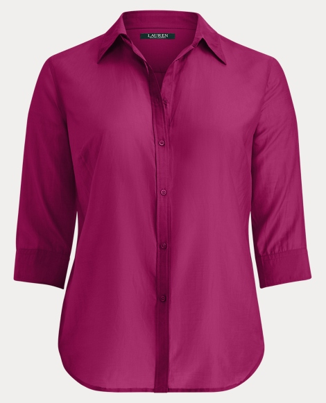 Cotton-Silk Button-Down Shirt