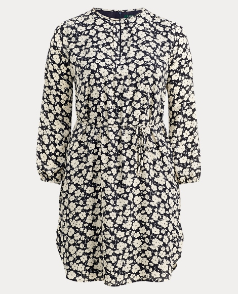 Georgette Long-Sleeve Dress