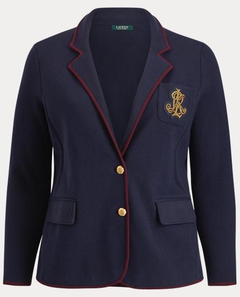 Bullion-Crest Sweater Blazer