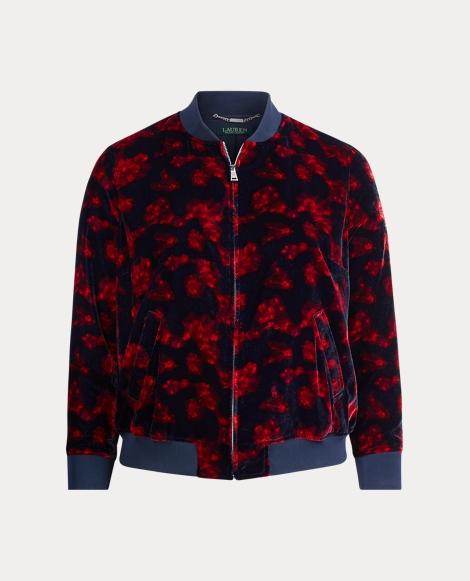 Velvet Floral Bomber Jacket