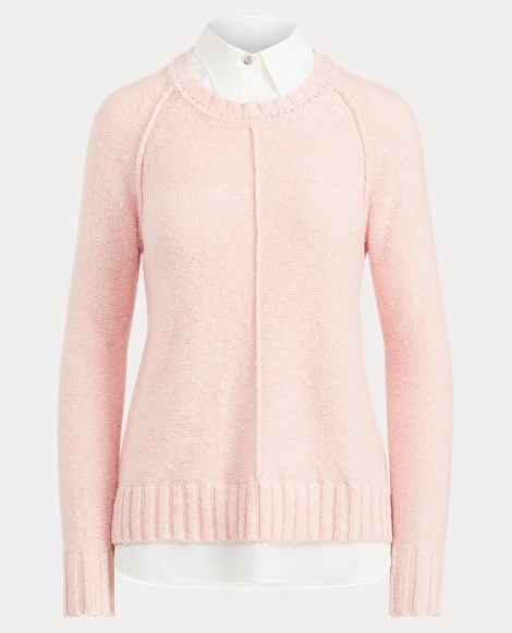 Layered Cotton-Blend Sweater