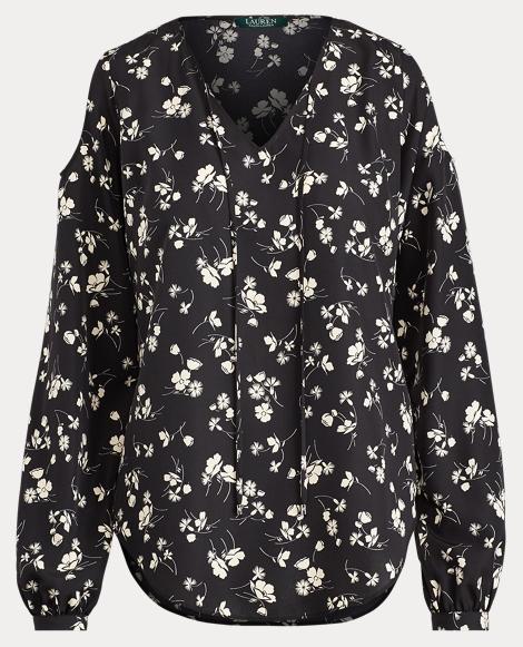 Floral Cold-Shoulder Top