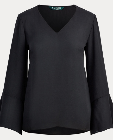 Georgette Bell-Sleeve Top