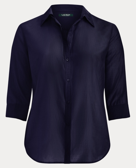 Cotton-Silk Button-Down Shirt