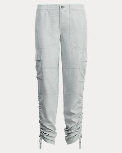 Drawstring-Cuff Cargo Pant