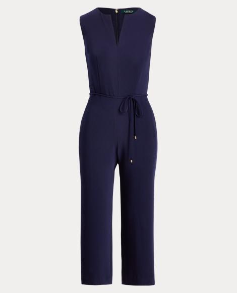 Crepe Wide-Leg Jumpsuit