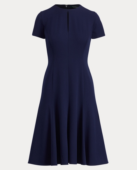 Keyhole Fit-and-Flare Dress