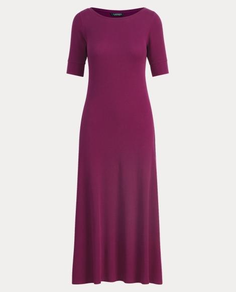 Waffle-Knit Cotton Midi Dress