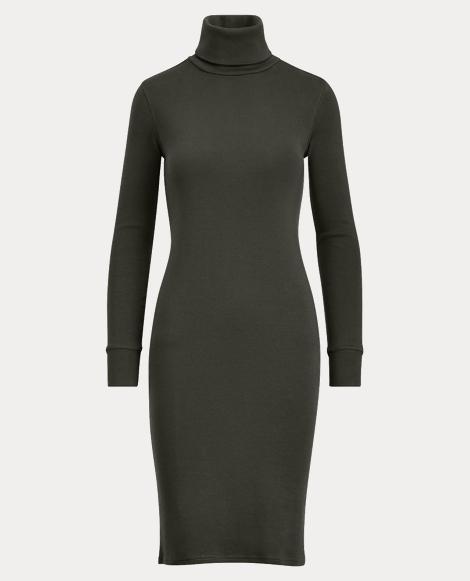 Cotton Turtleneck Dress