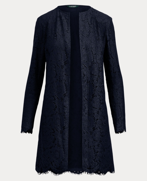 Lace Open-Front Jacket