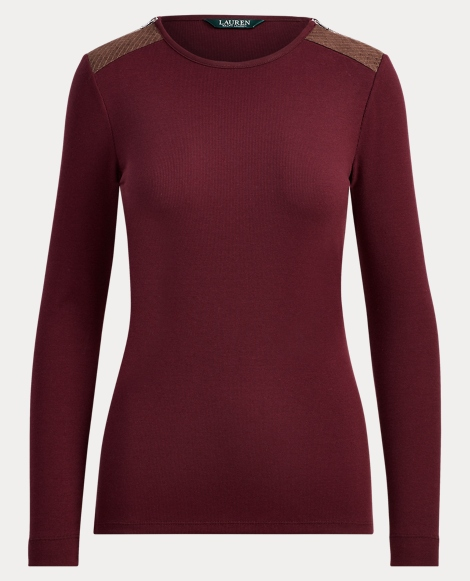 Zip-Shoulder Crewneck Top