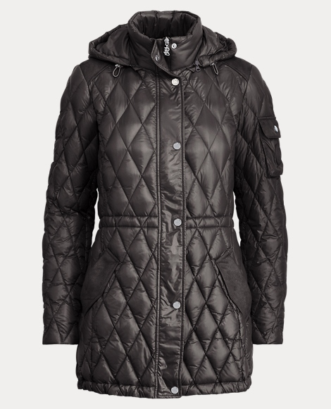 Quilted Drawcord Down Jacket