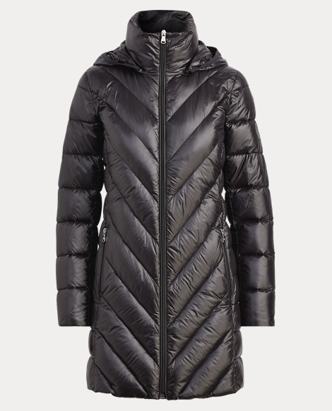Quilted Hooded Down Jacket