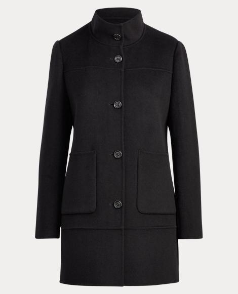 Wool-Blend A-Line Coat