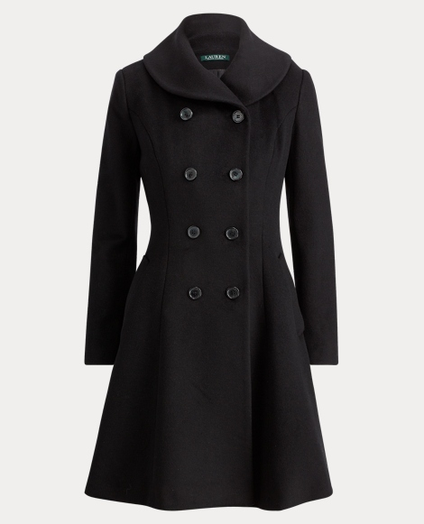 Wool Fit-and-Flare Coat