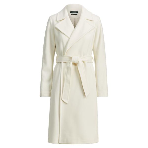 Ralph Lauren Wool-Cashmere Wrap Coat Moda Cream 4