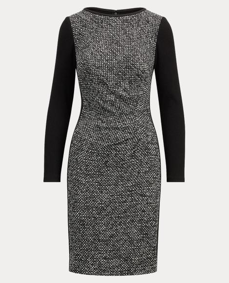 Two-Tone Knit Dress
