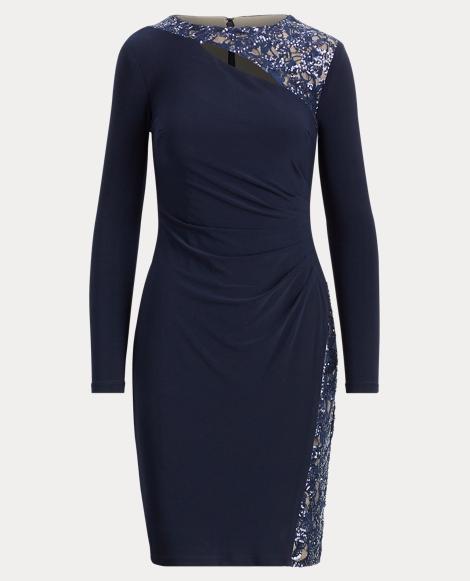 Mesh Cutout Jersey Dress