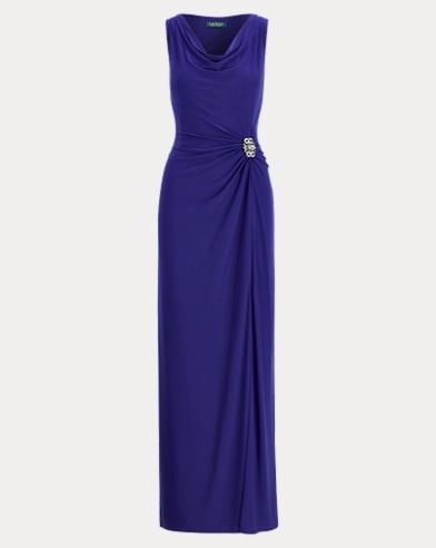 Rhinestone Jersey Gown